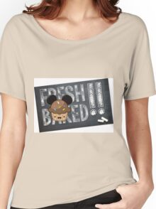 Fresh Baked Muffin on Chalk Women's Relaxed Fit T-Shirt