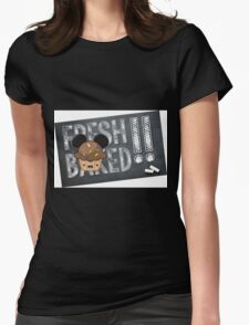 Fresh Baked Muffin on Chalk Womens Fitted T-Shirt