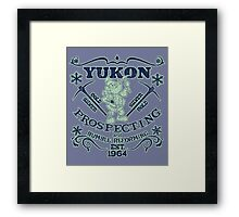 Yukon Prospecting and Bumble Reforming Framed Print
