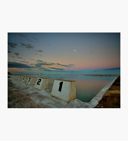 Merewether Baths at Dusk 8 Photographic Print