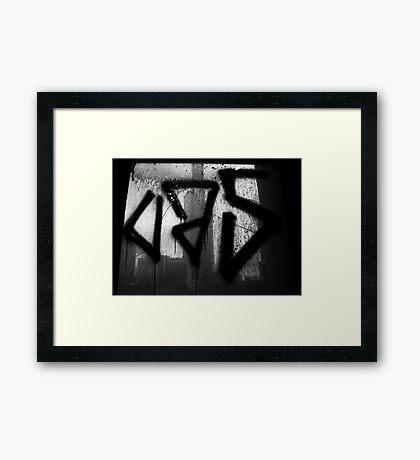 Juxtaposition (Eureka & Graffiti) Framed Print