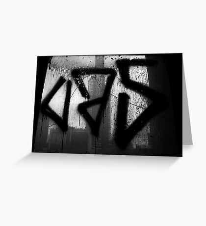 Juxtaposition (Eureka & Graffiti) Greeting Card