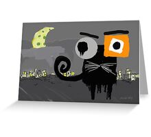 GATO NEGRO Greeting Card