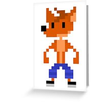 Crash Bandicoot Pixel Greeting Card