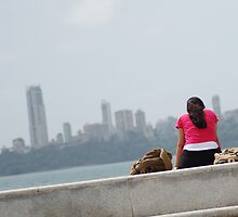 Alone by the sea, Mumbai, India 1 by SheriarIrani