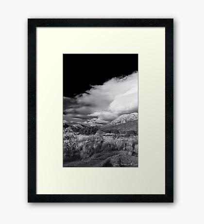 Desert Storms Framed Print