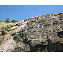 Bare sheer rockface 2 Photographic Print