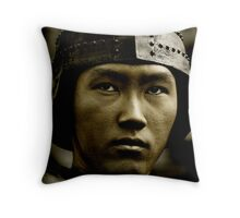 Asian Warrior Throw Pillow