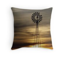 Caramel Colored Windmill Throw Pillow