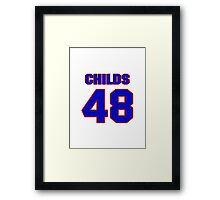 National football player Clarence Childs jersey 48 Framed Print