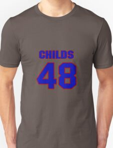National football player Clarence Childs jersey 48 T-Shirt