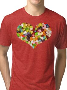 Jelly Bean Heart Tri-blend T-Shirt