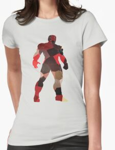 robot silhouette tshirt  Womens Fitted T-Shirt