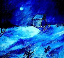 Winter Moon by Kent Whitaker