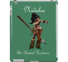 Nidalee - the Bestial Huntress League Of Legends (White Text) iPad Case/Skin