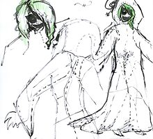 NBC Boogeywoman Costume Design Sketch by ThePirateKing