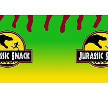 Jurassic Snack - Green mug by JMcDowallDesign