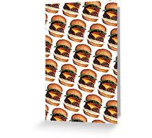 Cheeseburger Pattern Greeting Card