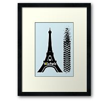 Velo Paris Framed Print