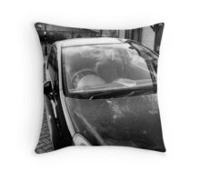 B&W HDR Car Throw Pillow