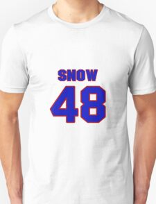 National football player Justin Snow jersey 48 T-Shirt