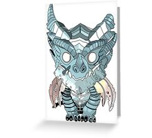 Blue Deathwing Greeting Card