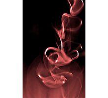burgandy smoke Photographic Print