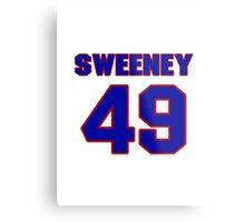 National football player Neal Sweeney jersey 49 Metal Print