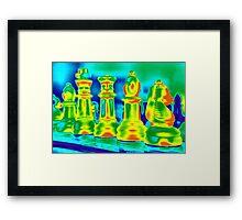 Neon Moves Framed Print
