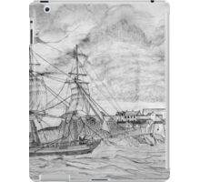 Sailing Ship off Castle Cornet in Guernsey iPad Case/Skin