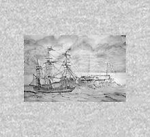 Sailing Ship off Castle Cornet in Guernsey T-Shirt