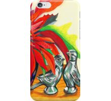 Lovebirds with Poinsettia iPhone Case/Skin