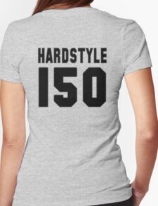 Hardstyle Football (Black) Womens Fitted T-Shirt