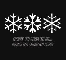 Snow Hate to Live in it...Love to Play in it!!! by Ryan Houston