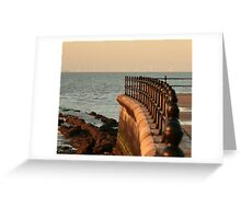 sunset  and wind farm Greeting Card