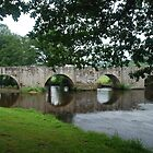 Bridge at Ahun, France by Peter Reid