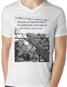 Security or Imprisonment Mens V-Neck T-Shirt
