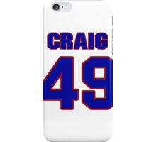 National football player Neal Craig jersey 49 iPhone Case/Skin