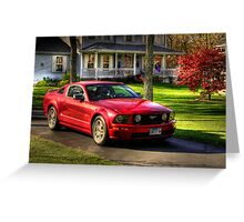 The Stang in HDR Greeting Card