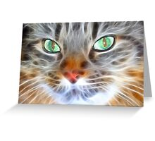 Fractual Feline Greeting Card