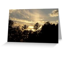 Sunset in late summer Greeting Card