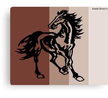 Saddle Brown II Canvas Print