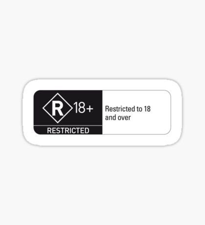 Rated R Sticker