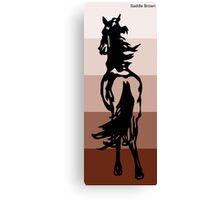 Saddle Brown Canvas Print