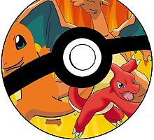 Pokeball, Charmander, Charmeleon, Charizard by leedavies88