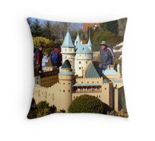 Land Of The Giants - Cockington Green Canberra Throw Pillow