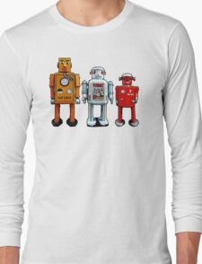 Three Robots. Long Sleeve T-Shirt
