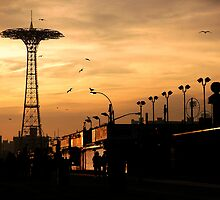 Coney Island at Sunset by Al Camardella Jr.