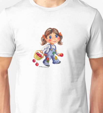 APPLE GIRL by SHARON SHARPE Unisex T-Shirt