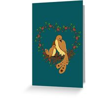 Family of birds Greeting Card